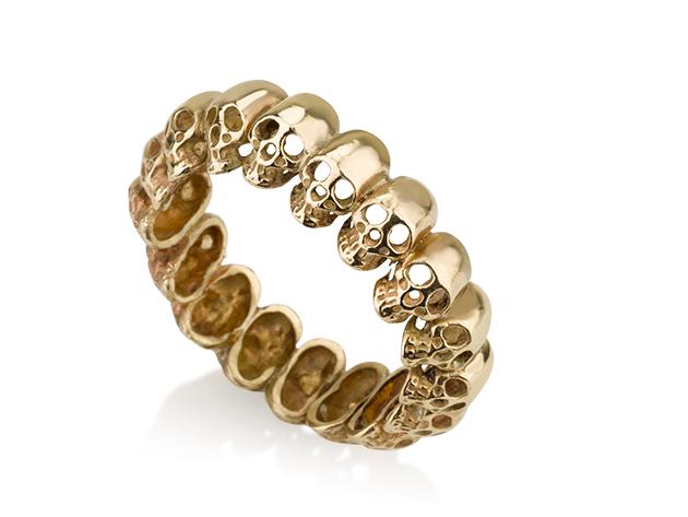 טבעת גולגולות מזהב 14 קראט