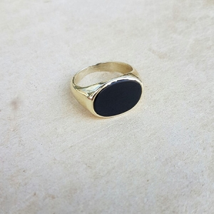onyx oval seal ring